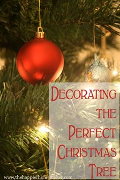 Tips to decorate your Christmas tree just like the magazines!