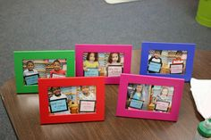 Take a photo of each student on the first and last day of school, then put them side by side & send them home as an end of year gift!
