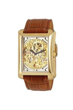 Exposed Gold Gears Watch.