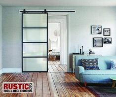 All of the advantages of a sliding barn door, but to match your modern decor! Our newly arrived Contemporary Metal Doors with Glass Lites comes in two different glass options. Contemporary Barn, Modern Barn, Modern Decor, Rustic Decor, Rustic Barn, Modern Rustic, Metal Barn, Metal Doors, Front Door Colors