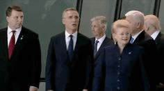 One of the more surprising moments caught on camera today at the NATO summit in Belgium came when Trump pushed aside Prime Minister Dusko Markovic of Montenegro to get to the front of the group of leaders for a photo op. We have a pig for our president.