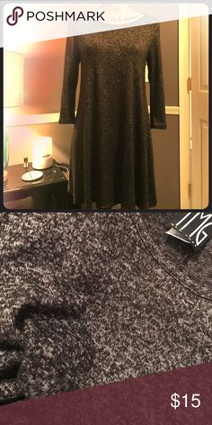 Flowy 3/4 sleeve dress Charcoal grey 3/4 sleeves, super soft, flowy dress. Dresses Mini