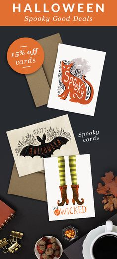Halloween cards by Dot&Jot Spooky Halloween Cat card Happy Halloween Bat Wicked Witch Greeting Card Halloween Bats, Happy Halloween, Cat Cards, Greeting Cards, Cute Stationary, Wicked Witch, Paper Goods, Whimsical, Etsy Seller