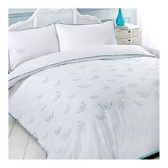 Flutterby Embroidered Bedding Set Duck Egg Blue Green Ribbon Edging - Double Bed in Home, Furniture & DIY, Bedding, Bed Linens & Sets | eBay #bed #bedding #duvet #butterfly #butterflies #white #simple #perfect #flutterbyes #stylish #thatsdarling #bedroom #style #decor #modern #cosy #relax #relaxing #doubleduvet #home #linen #homedecor #homestyle #interior #design #HarvardMills #LordOfTheLinens