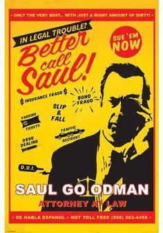 """Poster verticale """"Attorny At Law"""" della serie televisiva #BetterCallSaul. Dimensioni: 61 x 91,5 cm."""