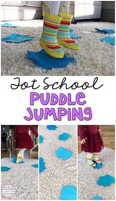 Get moving with this indoor puddle jumping gross motor activity. Perfect for tot school, preschool, or the kindergarten classroom.
