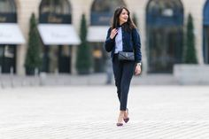 Team ankle grazers with bright statement heels to make an impact on the street