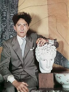 """Jean Cocteau (II) by Gisèle Freund Legendary of early/mid C who developed """"uniquely candid portraiture style"""" that distinguishes her in century Man Ray, Elsa Schiaparelli, Kenneth Anger, Erik Satie, Yul Brynner, Jean Cocteau, Artist Art, Artist Life, Playwright"""
