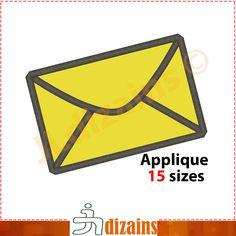 Envelope applique design. Machine embroidery design - INSTANT DOWNLOAD - 15 sizes.Envelope applique design. Mail applique. Post applique by JLdizains on Etsy