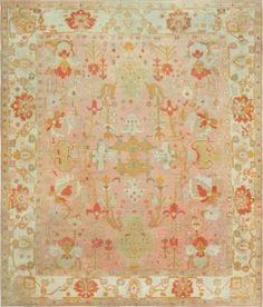 Antique All Over Design Turkish Oushak Carpet