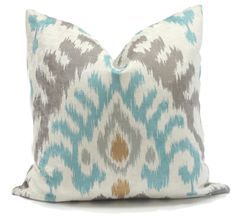 Kravet Velvet Ikat Chevron Decorative Pillow Cover by PopOColor