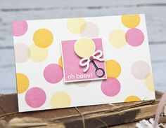 Oh Baby! Card by Ashley Cannon Newell for Papertrey Ink (May 2014)
