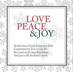Love, Peace & Joy Notecard http://www.andreaschroder.com/Love-Peace-and-Joy-Notecard-p/as815.htm