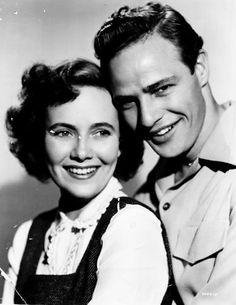 Marlon Brando and Theresa Wright promo shot for The Men.