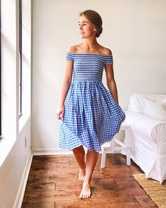 "7,524 Likes, 98 Comments - Lonestar Southern (@lonestarsouthern) on Instagram: ""Put my lake hair in a messy bun, threw on this incredibly comfy gingham sundress and proceeded to…"""