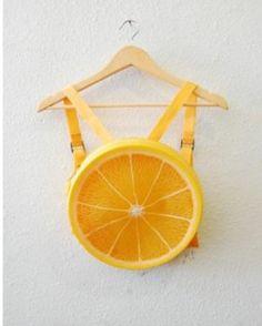 Orange slice backpack- best thing ever?!