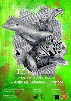 Cartel para el congreso veterinario de Lugo