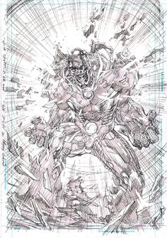 Justice League #6 Cyborg splash by Jim Lee
