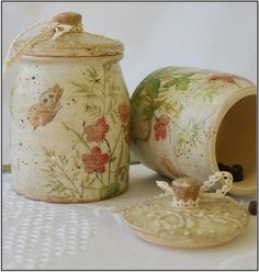 Старые баночки http://dcpg.ru/blogs/3027/ Click on photo to see more! Нажмите на фото чтобы увидеть больше! decoupage art craft handmade home decor DIY do it yourself set for spices