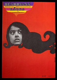 Movie poster Bewitched Love / Stanislav Duda, 1969 / #MoviePoster #Poster #GraphicDesign