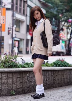 School Uniform Fashion, School Uniform Girls, Student Fashion, Girls Uniforms, School Girl Japan, School Girl Dress, Japan Girl, Gyaru Fashion, Women's Fashion