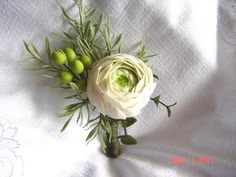 Rananculus Wedding BoutonniereGroomsmen by parsi on Etsy, $35.00