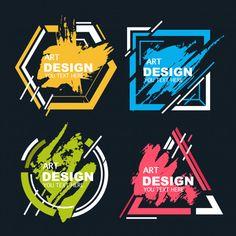 Abstract shape with watercolor splash banners vector Web Design, Vector Design, Design Art, Logo Design, Typography Logo, Art Logo, Typography Design, Splash Vector, Samourai Tattoo