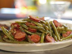 Doris Spacer's Portuguese Green Beans with Linguica Sausage