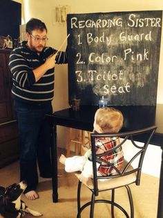 Funniest Pregnancy Announcement Photos: Big brother lesson ✿. ✿