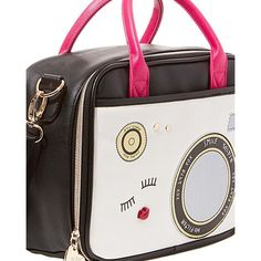 Betsey Johnson Chow Bella Paparazzi Lunch Tote ($48) ❤ liked on Polyvore featuring home, kitchen & dining, food storage containers, black, betsey johnson, rectangular food storage containers and betsey johnson lunch tote