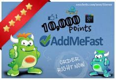 10,000+ points AddMeFast account or refill points to your ex... for $5