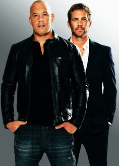 Oh my, a whole lot of deliciousness going on right here!!  Vin Diesel & Paul Walker / Fast Six