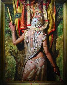 about Birth- Delhi,India. Vijender Sharma post gradute in fine art ( M. in Painting ) with Gold Madel & distinction. He creates th. Indian Artwork, Indian Paintings, Indian Drawing, Indian Artist, Woman Painting, Beautiful Paintings, Erotic Art, Contemporary Artists, Indian Girls