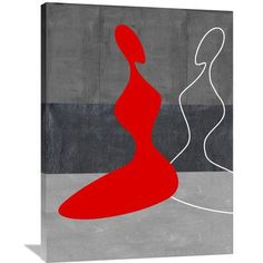 Naxart 'Red Grill' Graphic Art on Wrapped Canvas Size:
