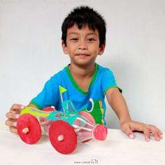 Carrinho Infantil com Reciclagem de Garrafa Pet   Espaço Infantil