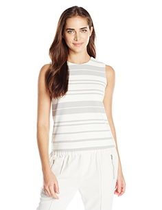 Calvin Klein Womens Varigated Shell WhiteGreyWhite Dove Stripe 4 * Be sure to check out this awesome product.