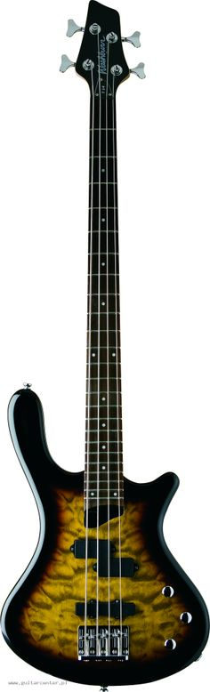 Washburn T14Q TS Bass Guitar Transparent Tobacco Sunburst