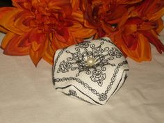 Tudor Blackwork Moorish Tile Embroidery & Pearl Kit by RedCatt on Etsy, £7.25