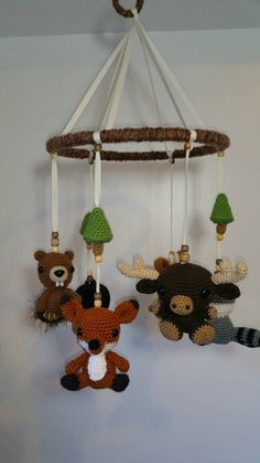 Check out this item in my Etsy shop https://www.etsy.com/listing/233031144/crochet-forest-animals-mobile