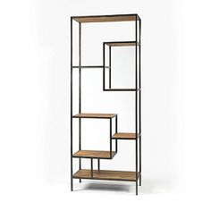 Helena Bookcase and Console Book case by Four Hands  Part of the Irondale Collection the Helena bookcase balances dramatic scale with flea marketing-find design. Storage solutions embellished with iron and brass details resemble libraries of the 1940′s, provide smart and stylish organization for any room.