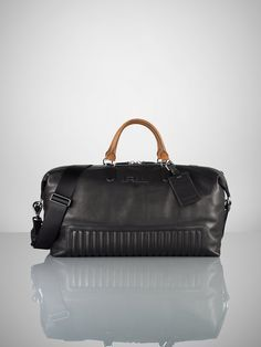 6c21c4ede13e Quilted Leather Duffle Bag - Bags  amp  Business Accessories Men -  RalphLauren.com Leather