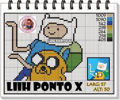 http://dinhapontocruz.blogspot.com.br/2014/07/finn-e-jake-hora-da-aventura-ponto-cruz.html