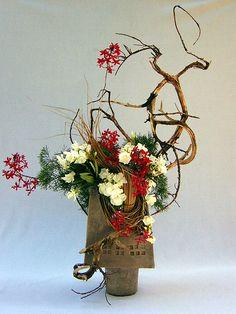 Ikebana Christmas by Don Urban