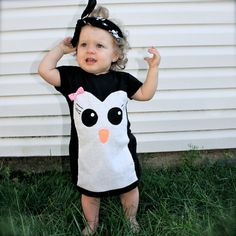 toddler girls penguin dress by SewOeno on Etsy, $35.00