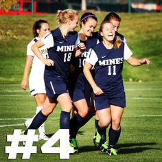 Your #Mines women's soccer team reached No. 4 in @NSCAA poll for first time today! #rmacwsoc #HelluvaEngineer