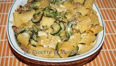 Maccheroncini gratinati con zucchine e scamorza