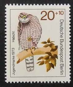 Owl stamp from Germany - Passion Gift Stamp Art
