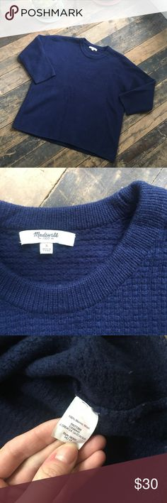🎉Madewell Sweater Thick knit, very good condition. Gently used. Bundle for a discount or make me an offer! Madewell Sweaters Crew & Scoop Necks