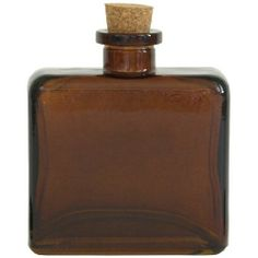 "8.5 oz Matic Glass Reed Diffuser Bottle - Dark Amber by Elit Sense Exclusive. $6.00. Width: 3 7/8"". Opening: 3/4"". Length: 1 3/4"". Height: 4 1/4"". Capacity: 8.5oz / 250ml. Looking for replacement bottle or just need a reed diffuser bottle for our Reed Diffuser Scented Oil Refills? Look no further! This 8.5 oz Dark Amber Matic Glass Bottle is a great choice. Comes with cork and holds up to 8.5 oz of liquid.  Recycled glass bottles, such as this rectangle glass des..."