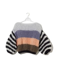 You can find all of our most wanted sweaters here. Pleated Sweater, Mohair Basic Sweater, V-Neck Sweater. Shop the new collection now! Hand Knitted Sweaters, Mohair Sweater, Warm Sweaters, Big Sweater, Handgestrickte Pullover, Chunky Knitwear, Sweater Fashion, Look Fashion, Fashion Wear